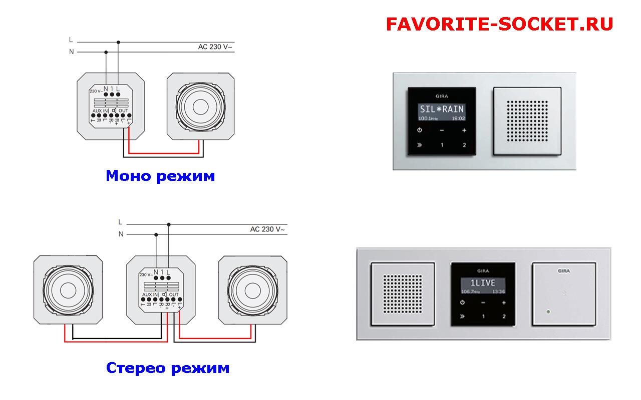 Схема подключения радиоприемника напрямую