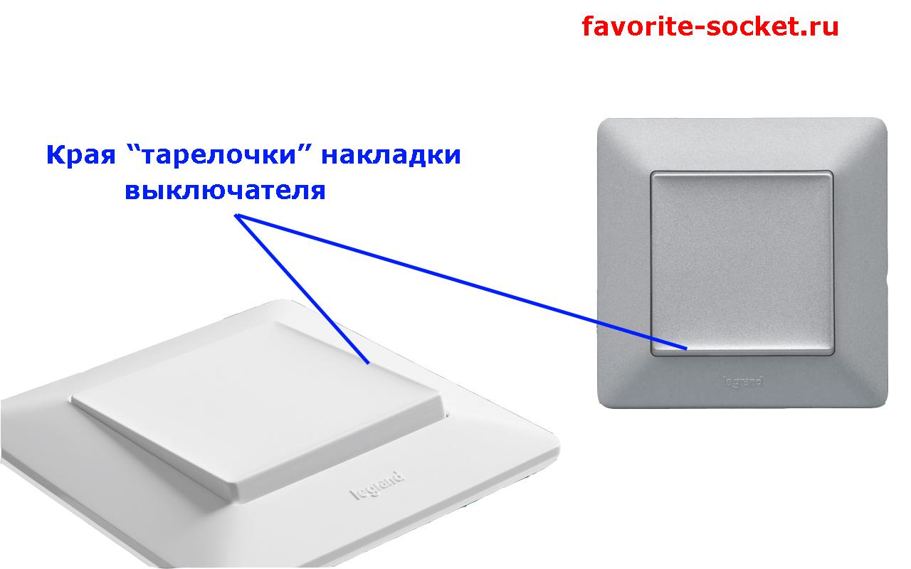 Клавиша выключателя Life тарелкообразной формы