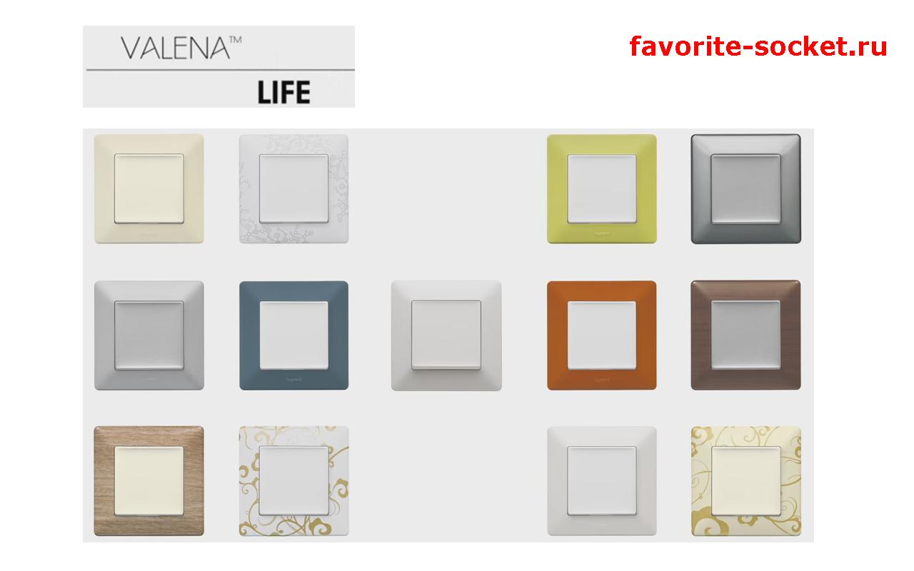 Цветовая палитра рамок Valena Life