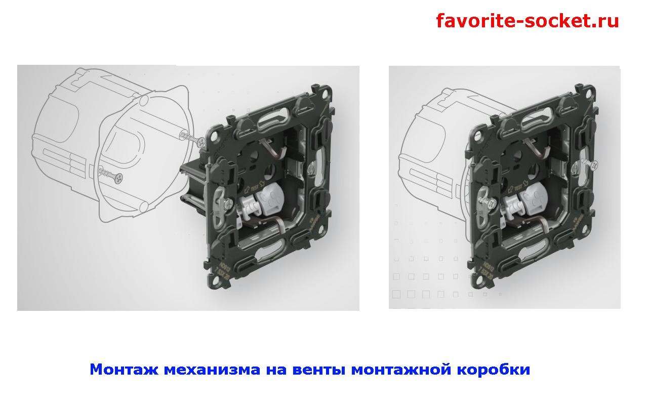 Монтаж механизма InMatic на винтах