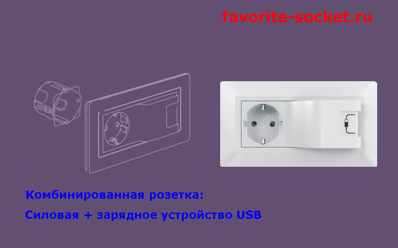Силовая розетка и зарядное устройство USB серии Valena Life
